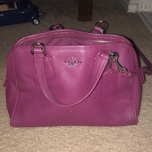 Coach burgundy cross body